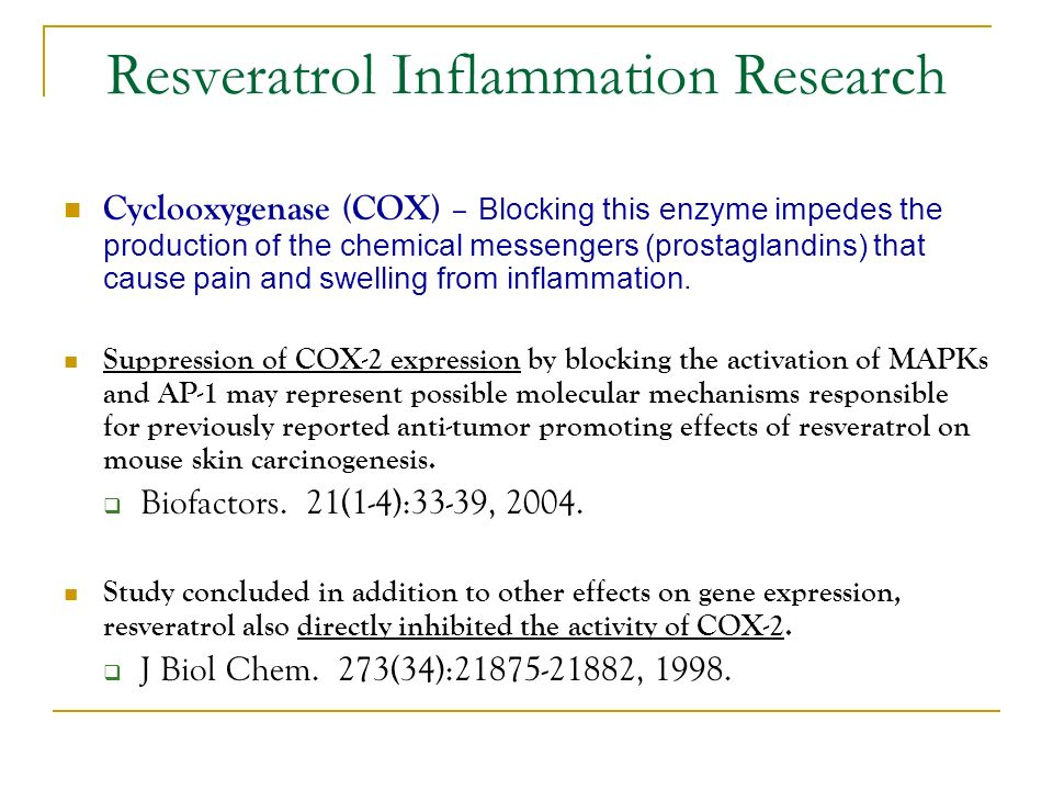 Resveratrol Inflammation Research