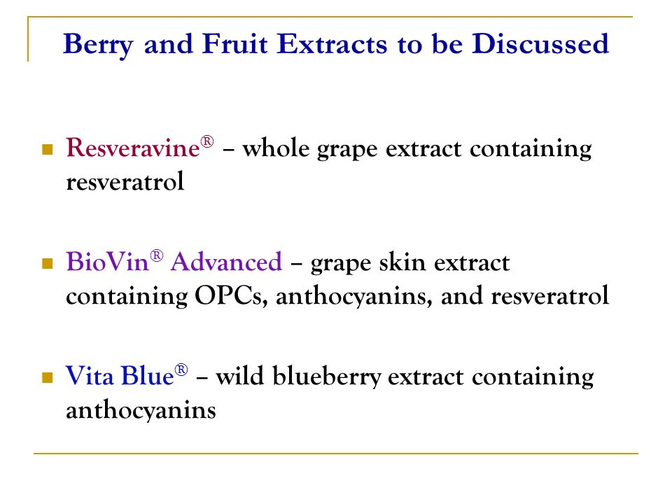 Berry and Fruit Extracts to be Discussed