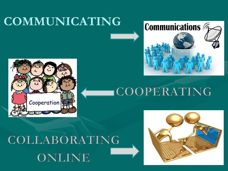 COMMUNICATING COOPERATING COLLABORATING ONLINE