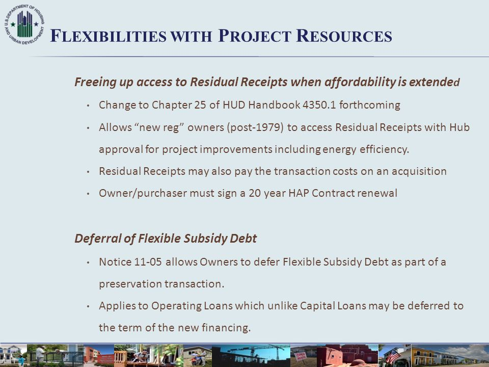 Flexibilities with Project Resources