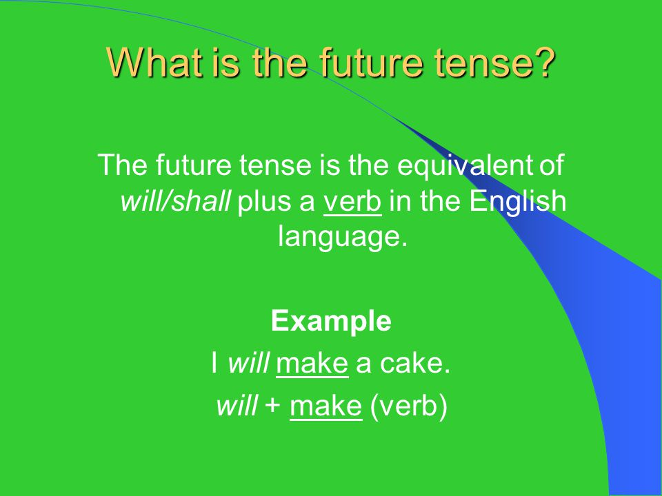 What is the future tense