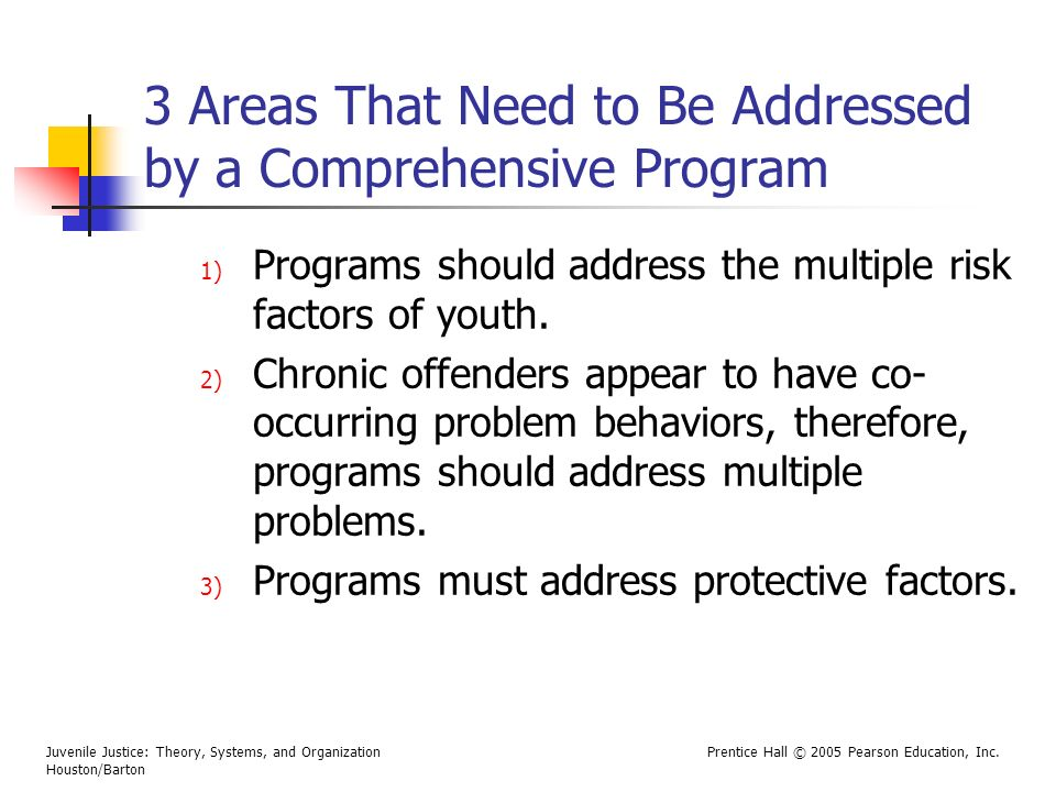 3 Areas That Need to Be Addressed by a Comprehensive Program