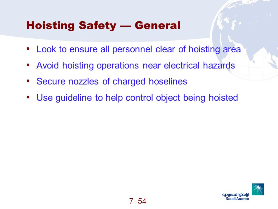 Hoisting Safety — General