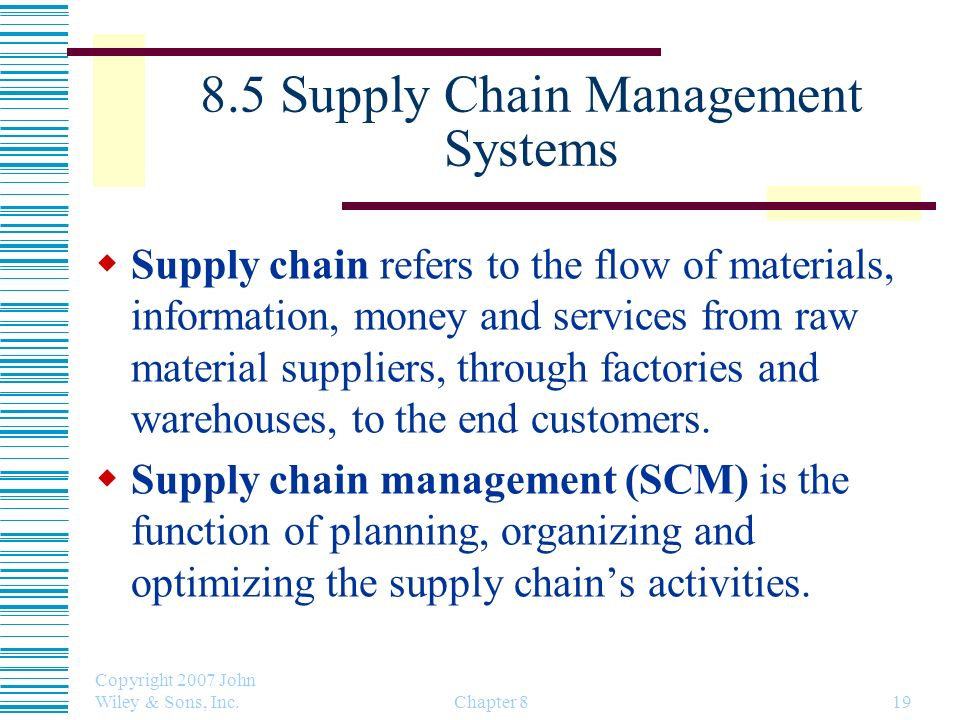 8.5 Supply Chain Management Systems
