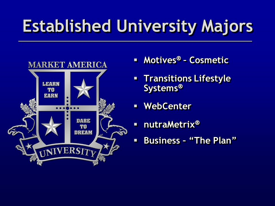 Established University Majors