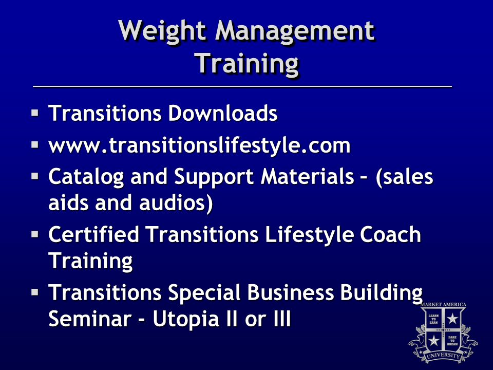 Weight Management Training