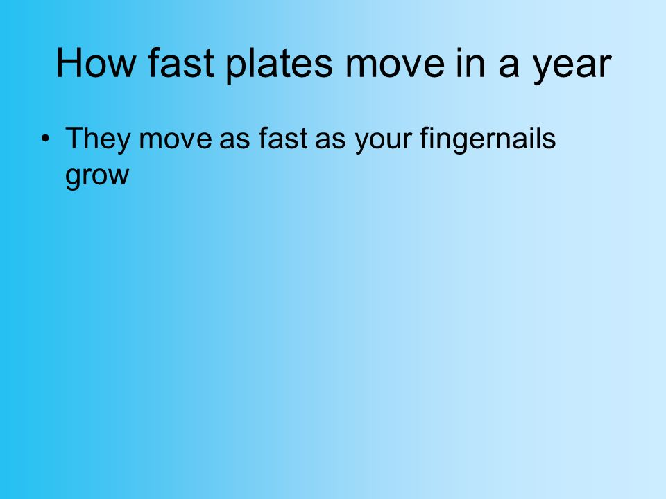 How fast plates move in a year