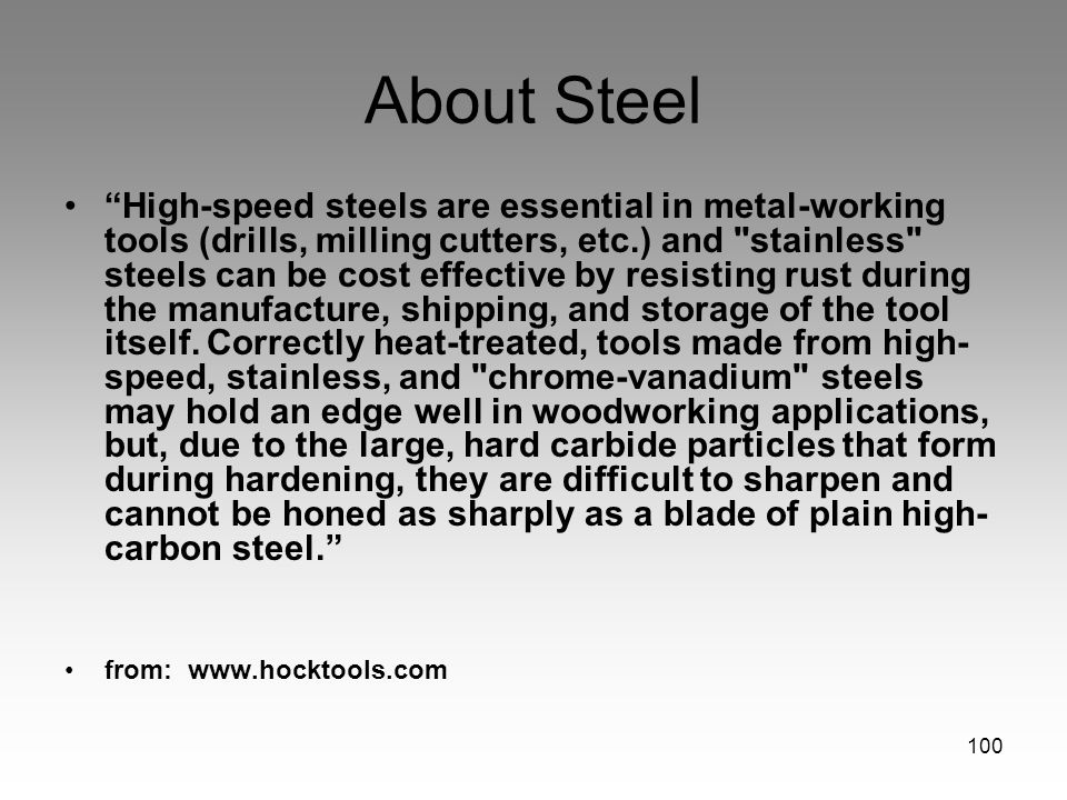 About Steel