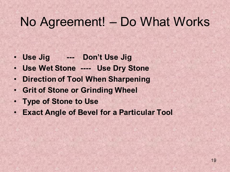 No Agreement! – Do What Works