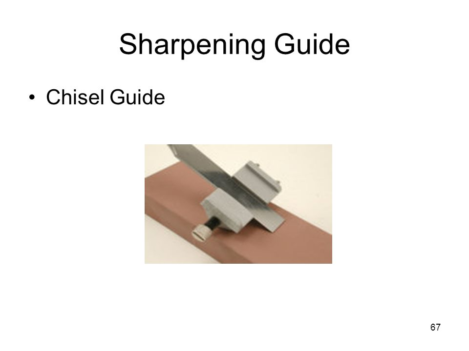 Sharpening Guide Chisel Guide From: Woodworkingtips.com
