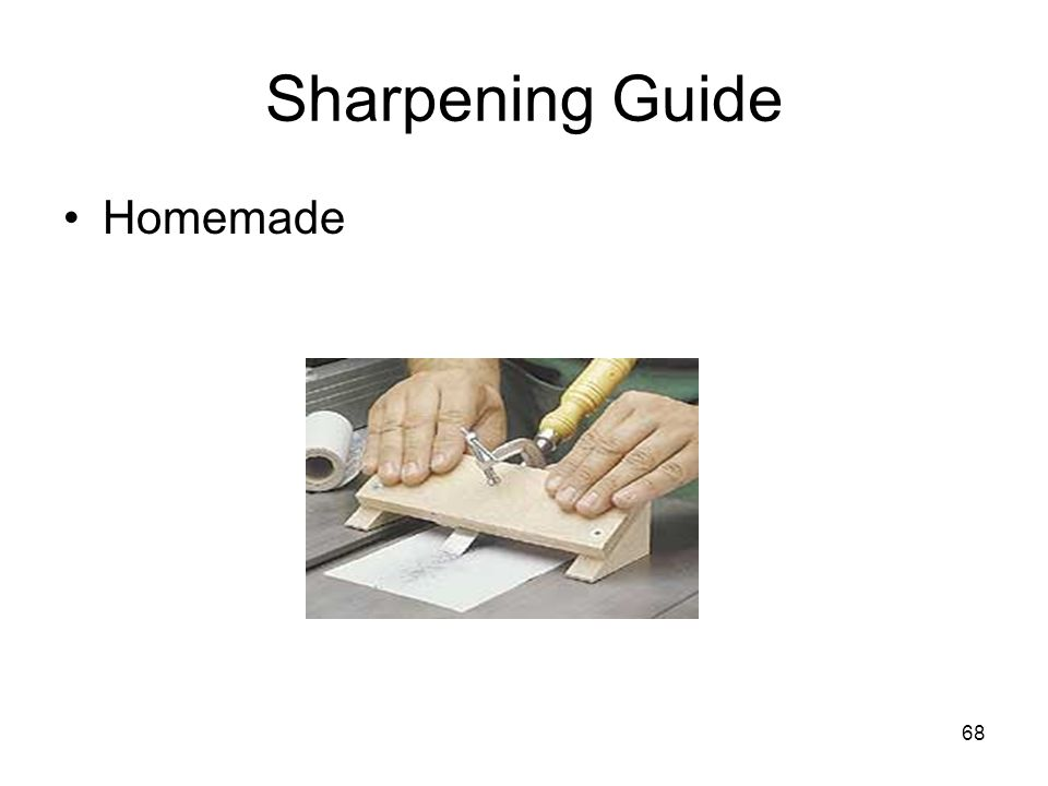 Sharpening Guide Homemade From: Woodworkingtips.com