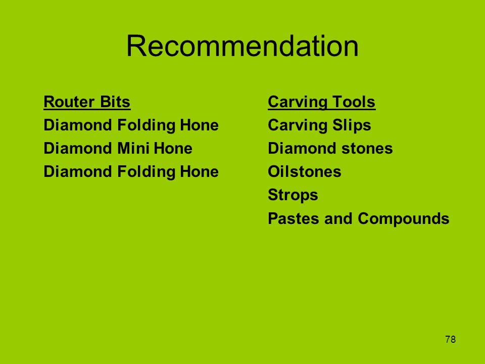 Recommendation Router Bits Carving Tools