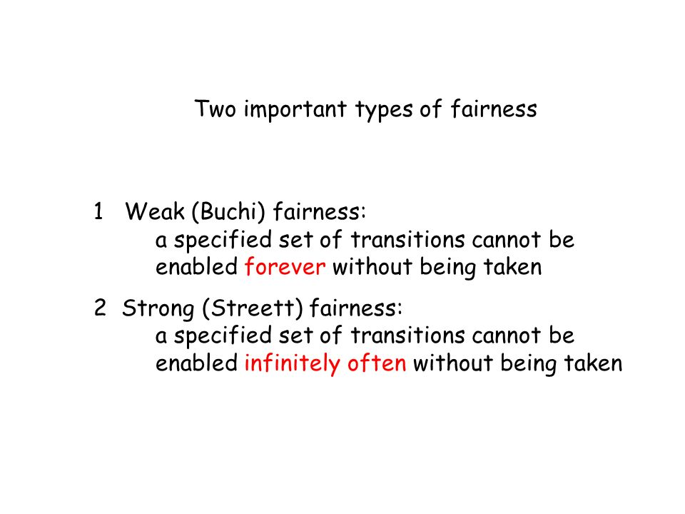Two important types of fairness