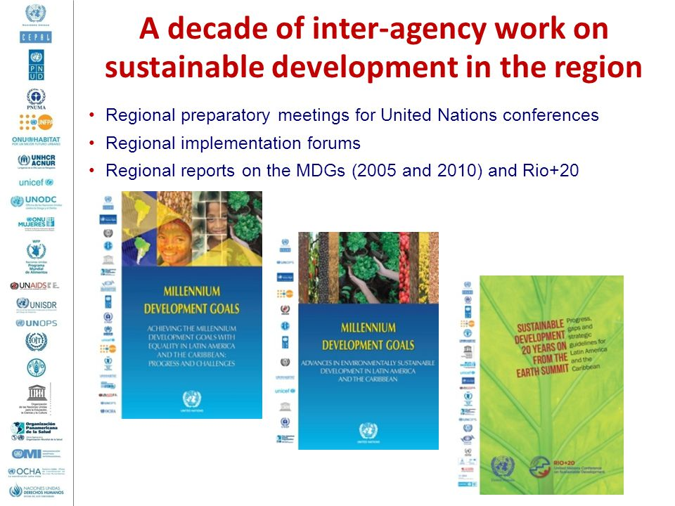 A decade of inter-agency work on sustainable development in the region