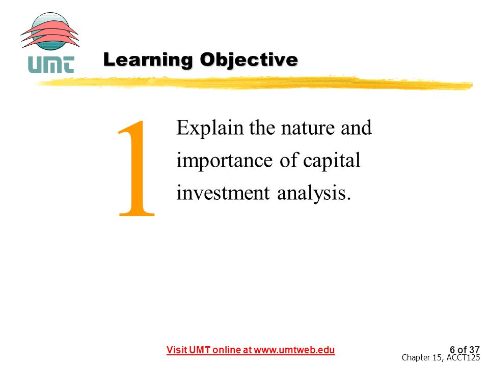 1 Explain the nature and importance of capital investment analysis.