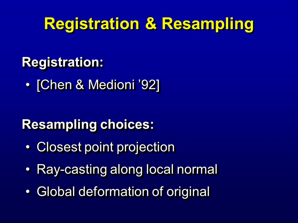 Registration & Resampling