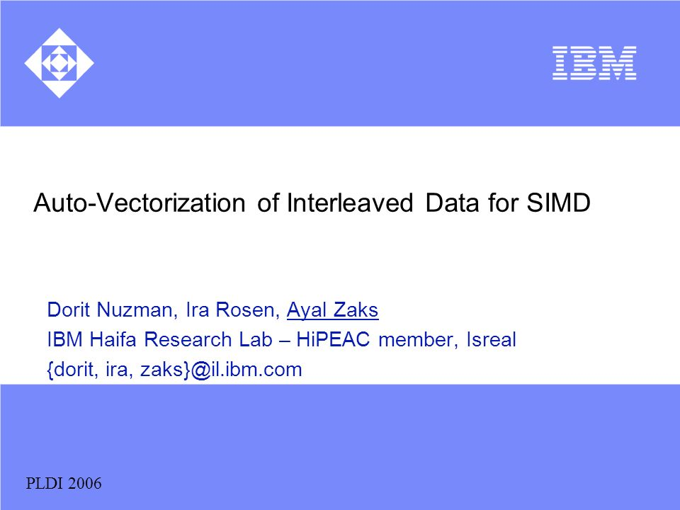 Auto-Vectorization of Interleaved Data for SIMD
