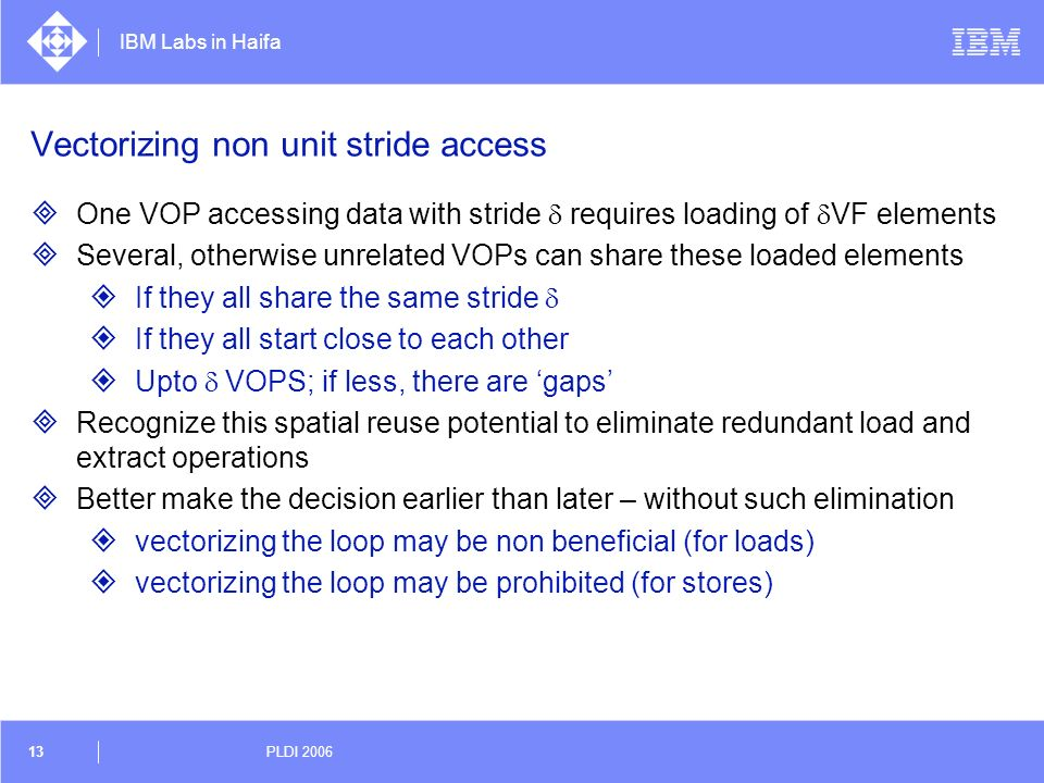 Vectorizing non unit stride access