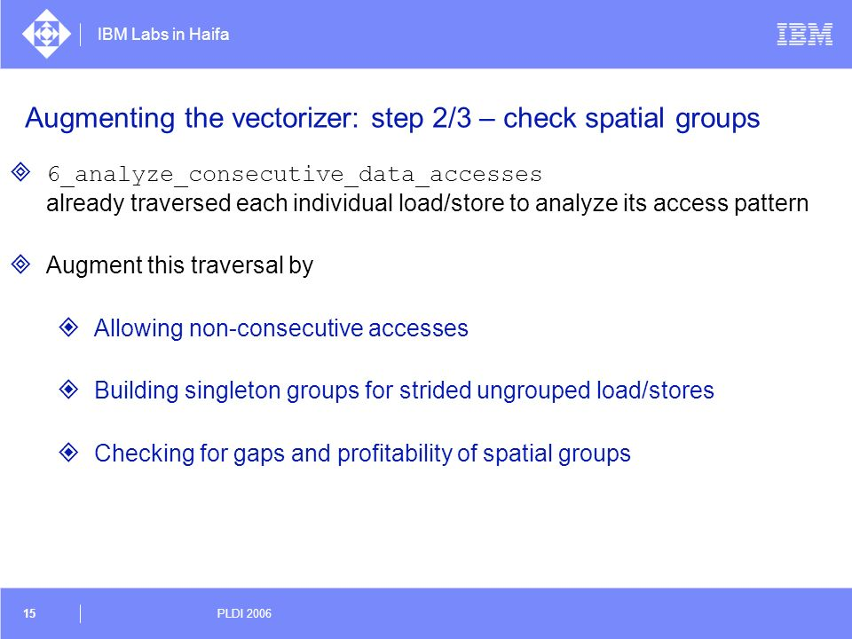 Augmenting the vectorizer: step 2/3 – check spatial groups