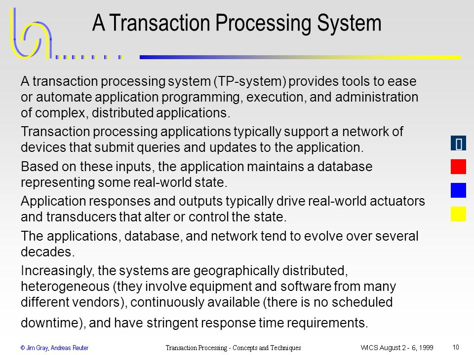 A Transaction Processing System