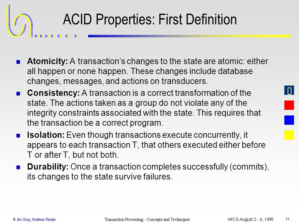 ACID Properties: First Definition
