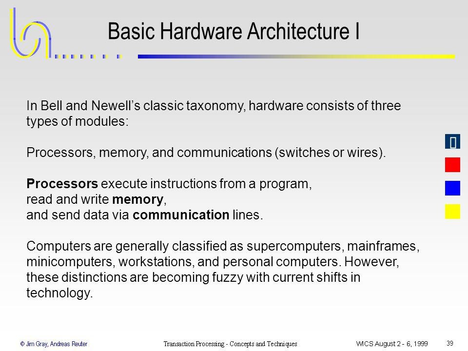 Basic Hardware Architecture I