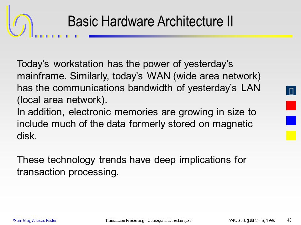 Basic Hardware Architecture II