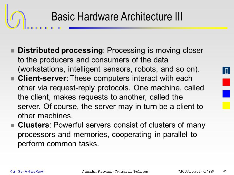 Basic Hardware Architecture III