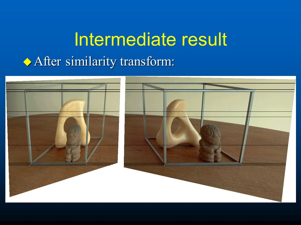 Intermediate result After similarity transform: