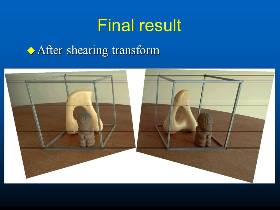 Final result After shearing transform
