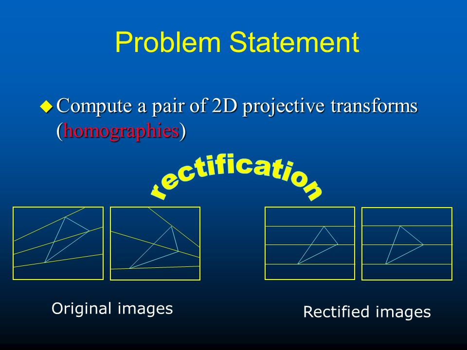 Problem Statement rectification