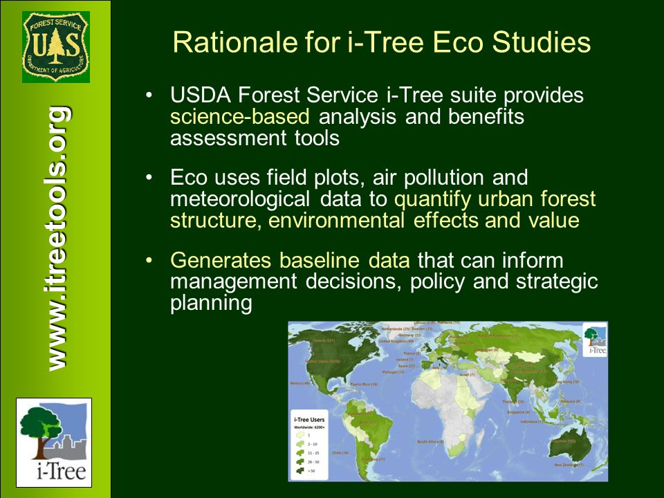 Rationale for i-Tree Eco Studies