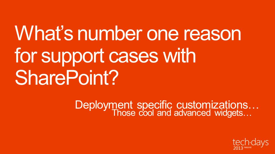 What's number one reason for support cases with SharePoint
