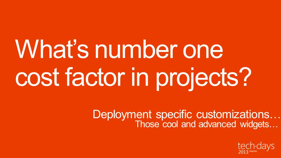 What's number one cost factor in projects