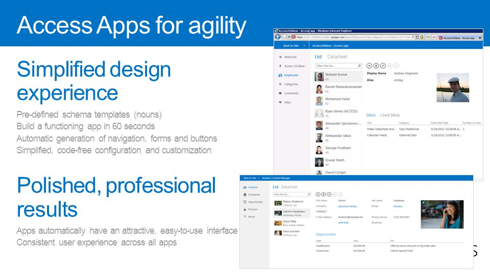 Access Apps for agility