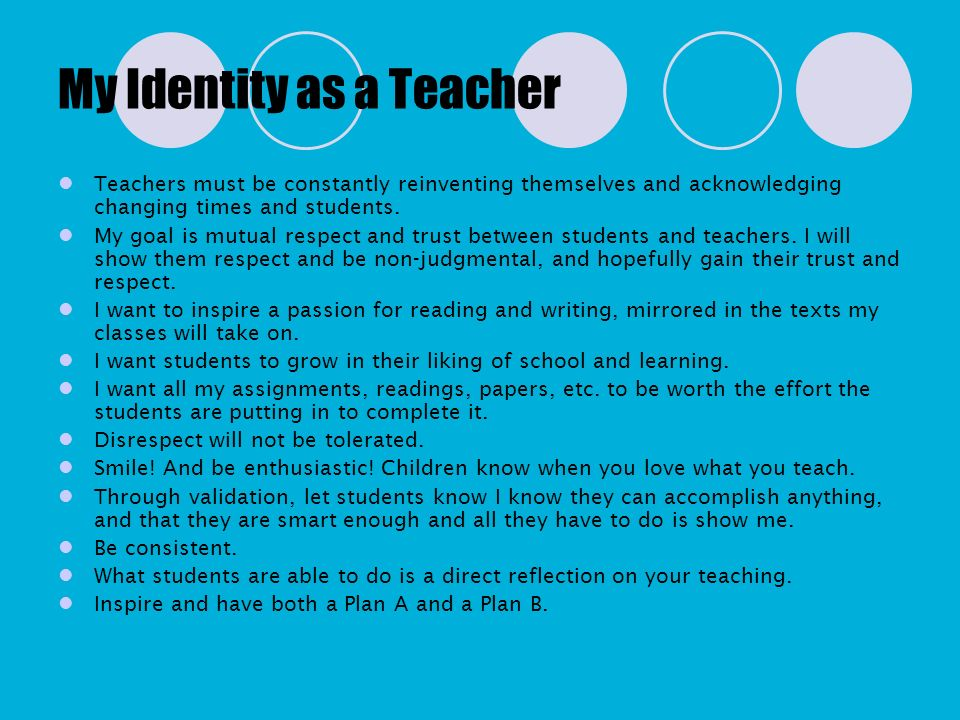 My Identity as a Teacher
