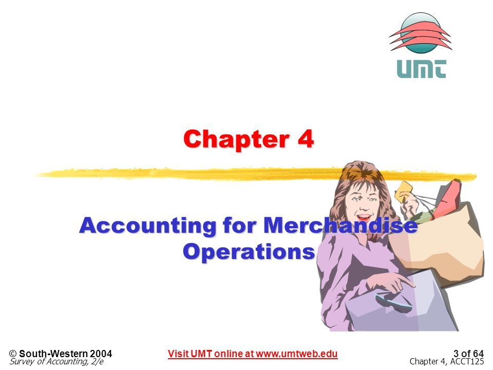 Accounting for Merchandise Operations