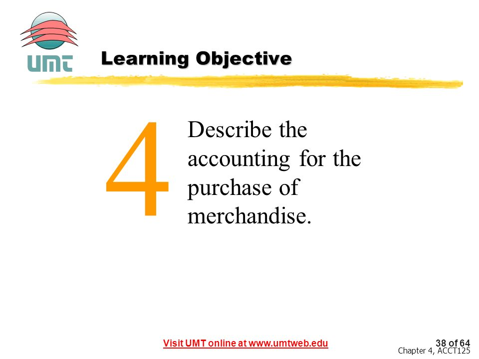 4 Describe the accounting for the purchase of merchandise.
