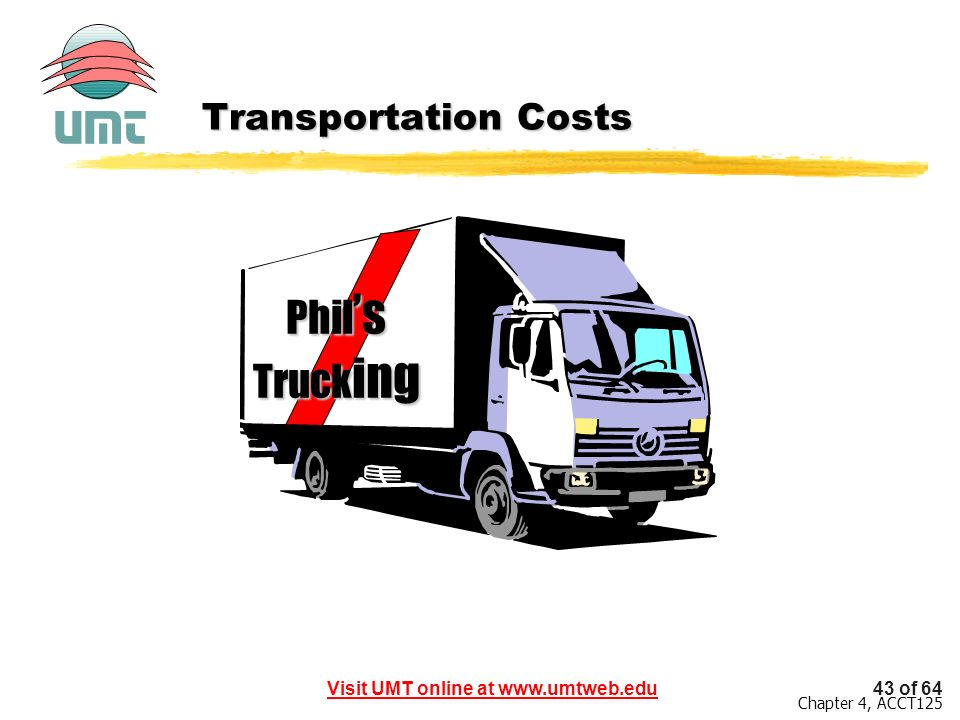 Transportation Costs Phil's Trucking