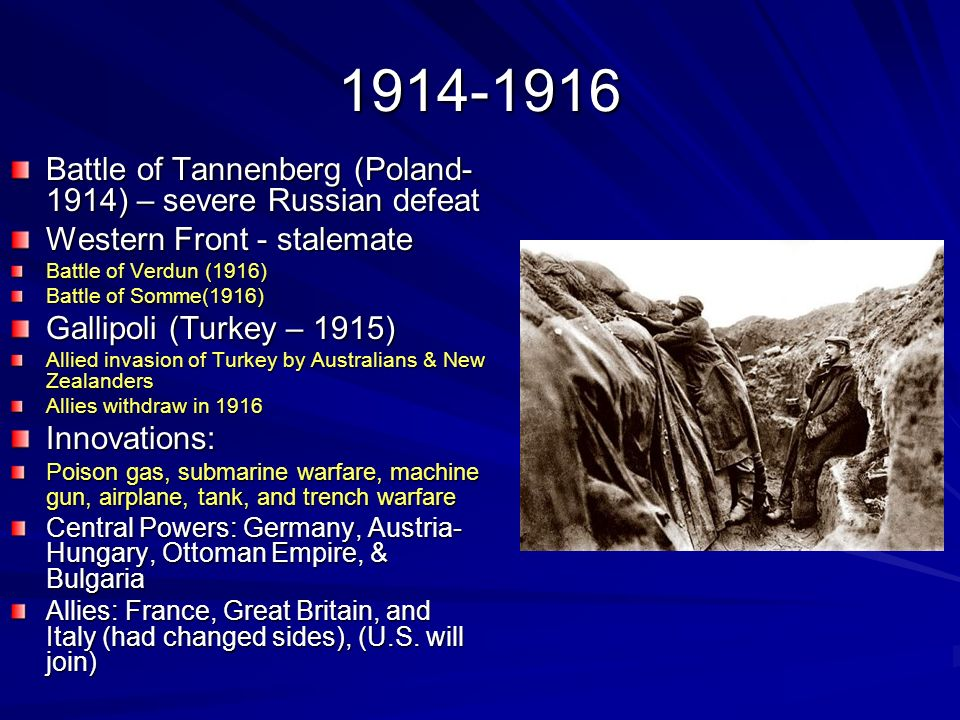 Battle of Tannenberg (Poland-1914) – severe Russian defeat