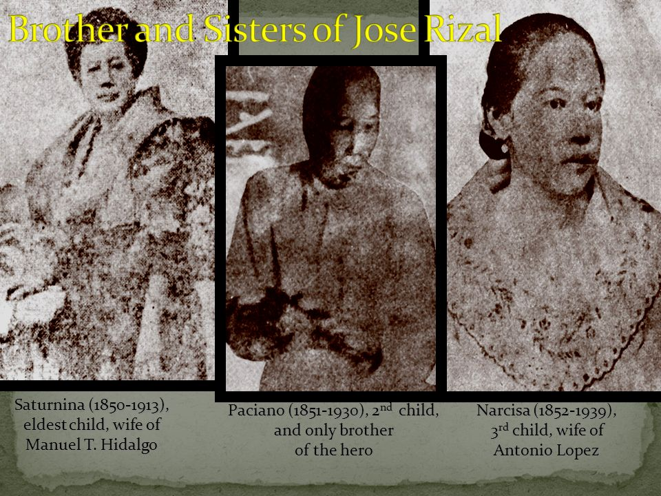 Brother and Sisters of Jose Rizal