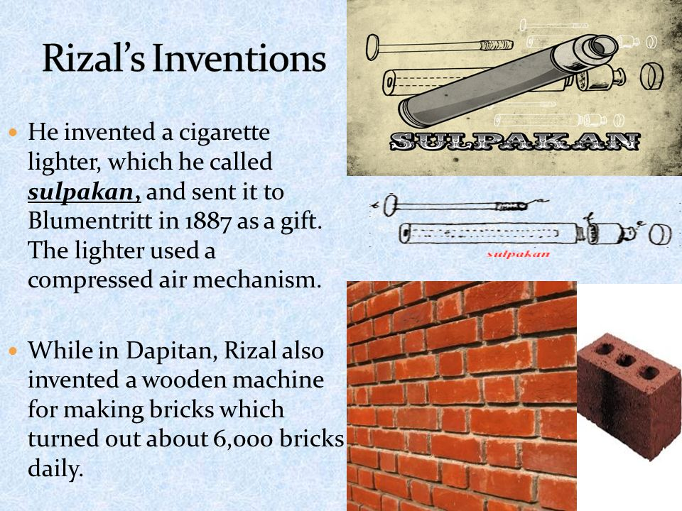 Rizal's Inventions