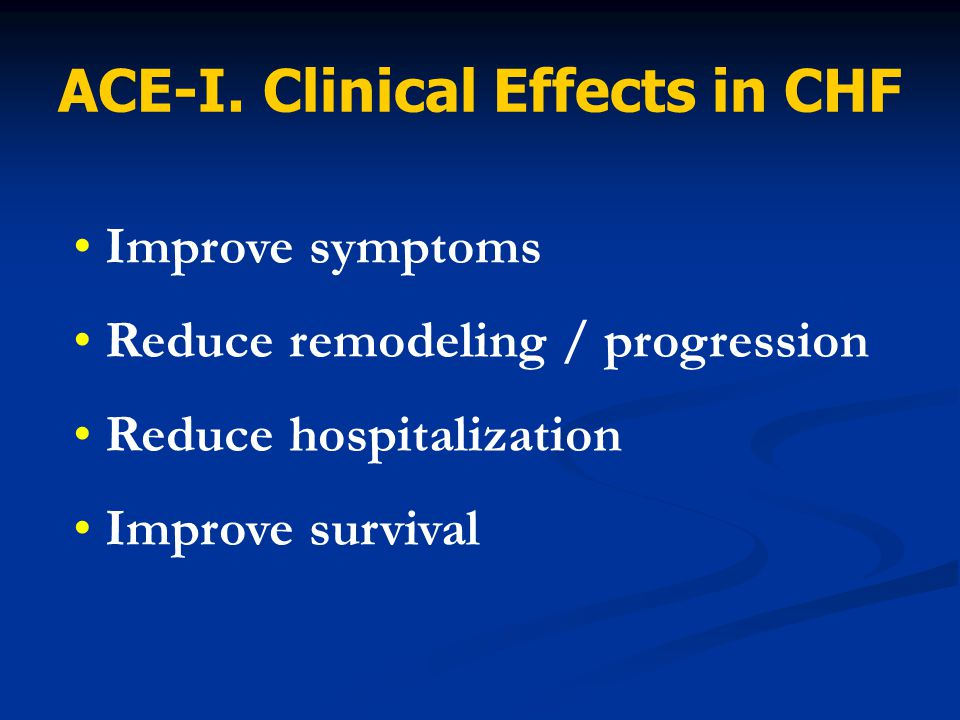 ACE-I. Clinical Effects in CHF