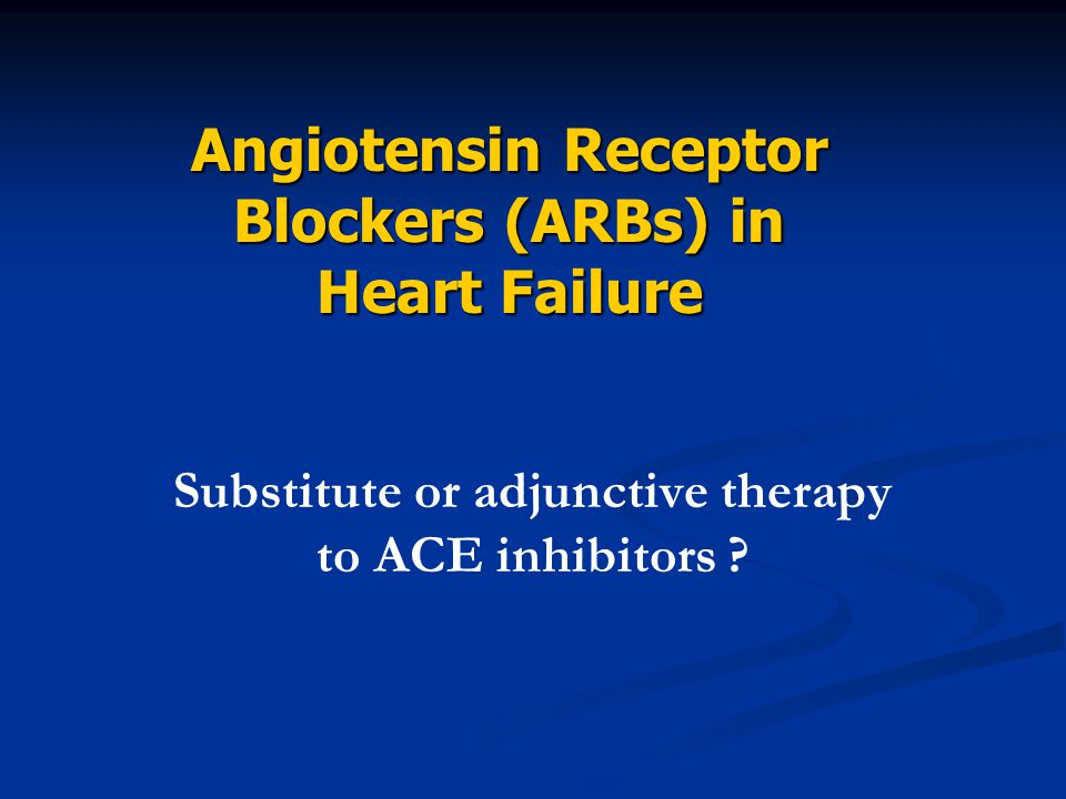 Substitute or adjunctive therapy to ACE inhibitors