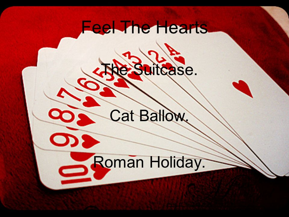 Feel The Hearts The Suitcase. Cat Ballow. Roman Holiday.