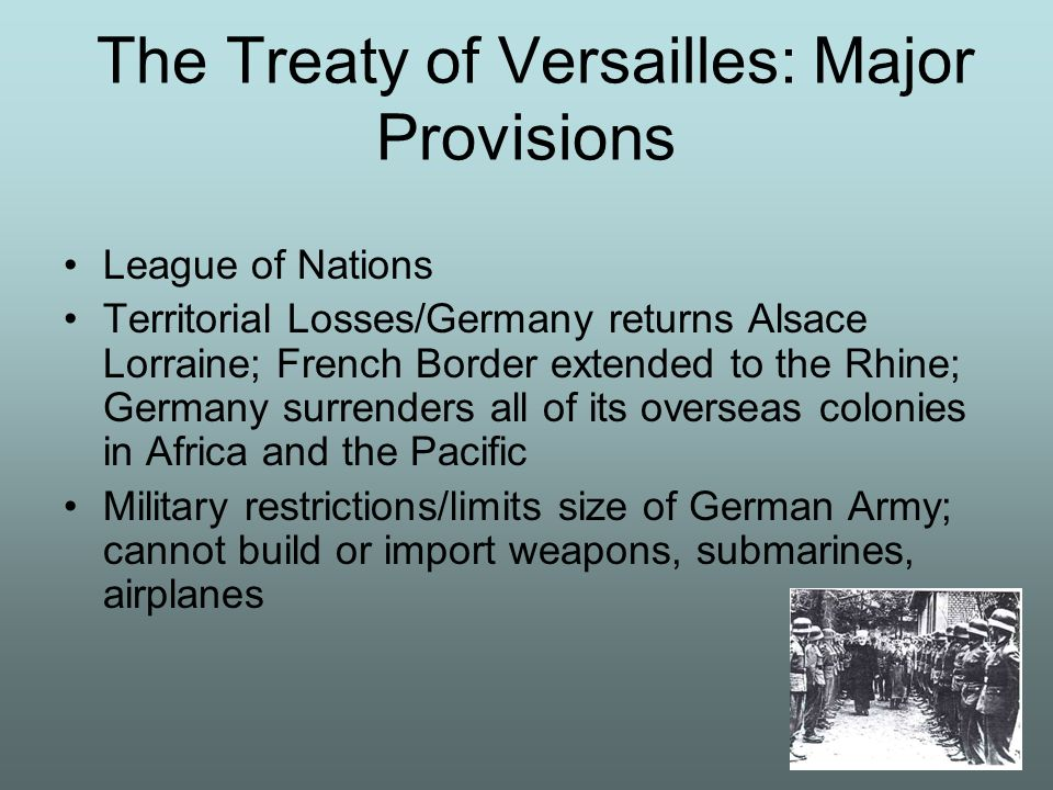 The Treaty of Versailles: Major Provisions