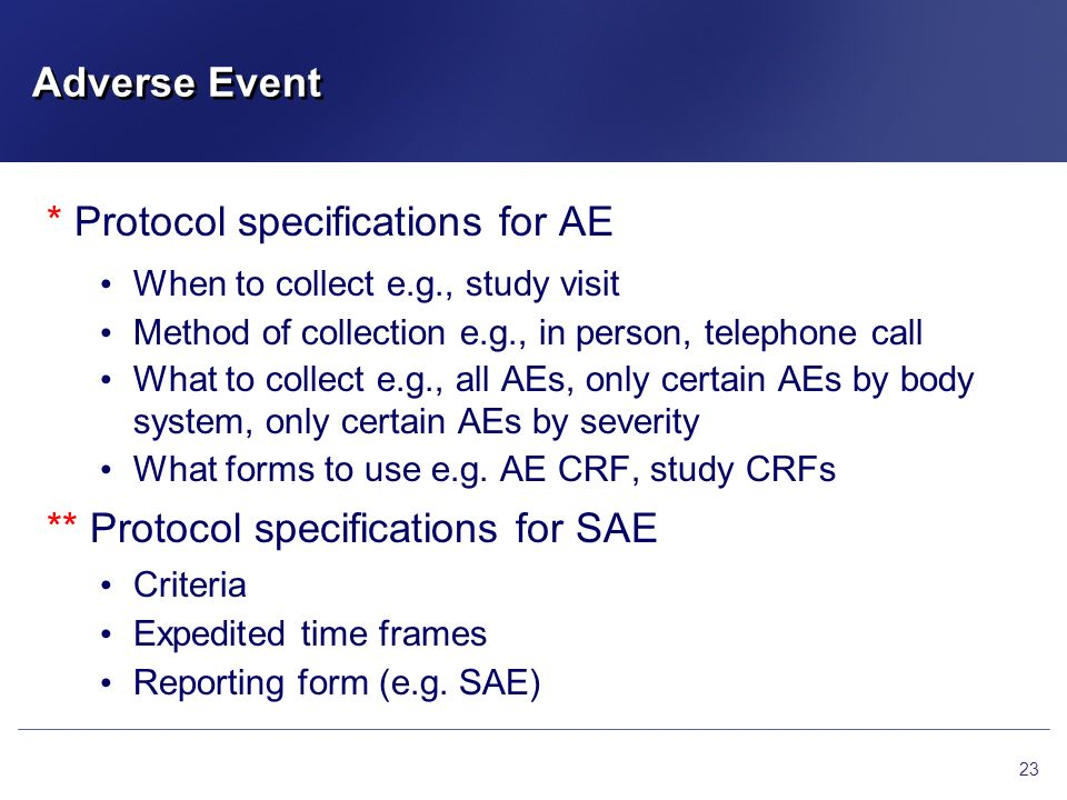 * Protocol specifications for AE