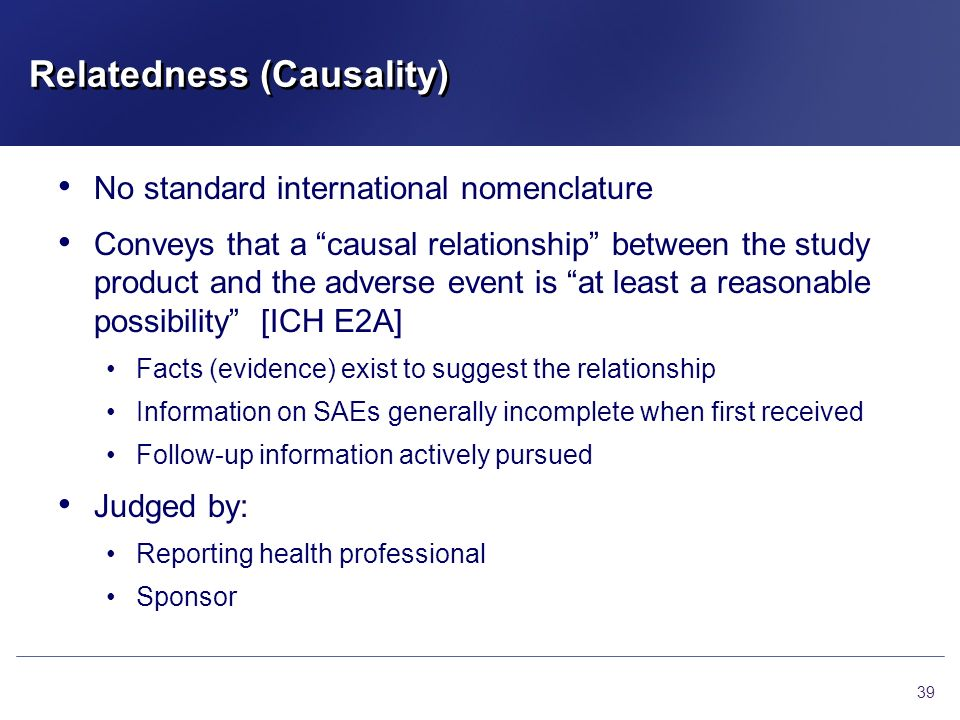 Relatedness (Causality)