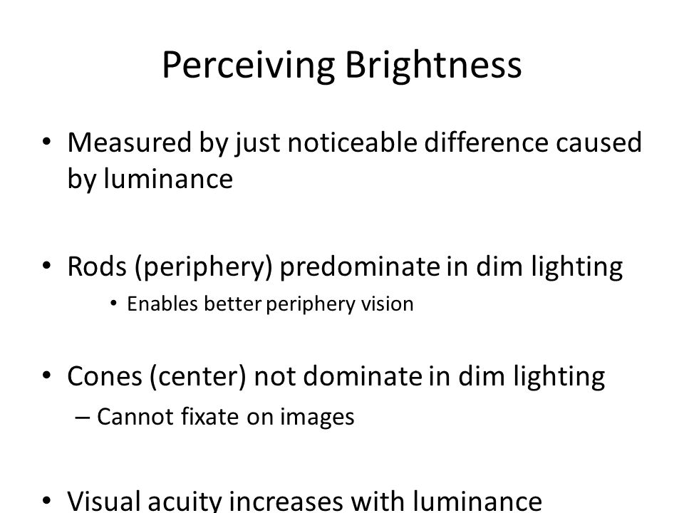 Perceiving Brightness