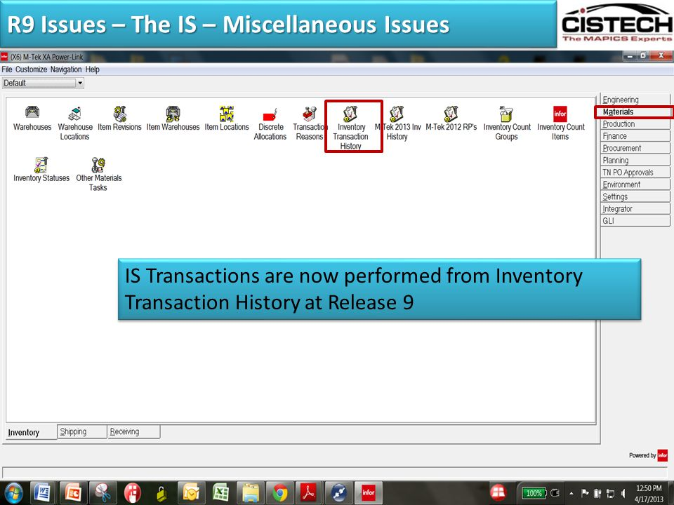 """TRANSACTION PROCESSING Managing the """"Ins"""" and """"Outs"""" of"""